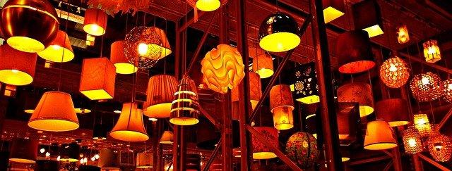 stropní svítidla, žlutooranžová