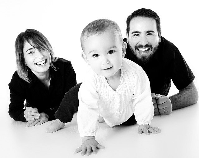 rodiče s dítětem