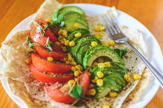 zelenina, jídlo, avokádo, rajče